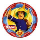 """8 Assiettes en carton """"Sam, le pompier courageux"""""""