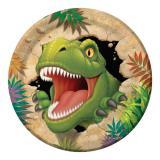 """8 assiettes en carton """"Dangereux dinosaures"""""""