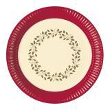 """8 assiettes en carton """"Fêtes de Noël dorées"""""""
