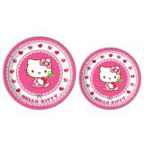 "8 assiettes en carton ""Hello Kitty"""