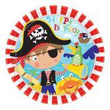 """8 assiettes en carton """"Petit pirate courageux"""""""