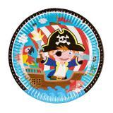 """8 assiettes en carton """"Petit pirate des mers"""""""