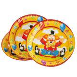 """8 assiettes en carton """"Clown rigolo"""""""
