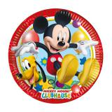 "8 assiettes en carton ""Mickey Mouse & Pluto"""