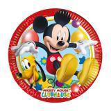 """8 assiettes en carton """"Mickey Mouse & Pluto"""""""