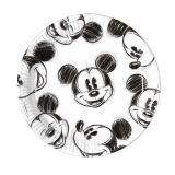 """25 assiettes en carton """"Dessin de Mickey"""""""