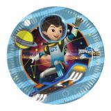 """8 assiettes en carton """"Miles dans l'espace"""""""