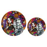 "8 assiettes en carton ""Monster High Party"""