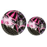 "8 assiettes en carton ""Monster High"""