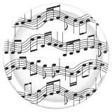 """8 assiettes en carton """"Notes de musique"""" 23 cm"""