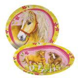 """8 assiettes en carton """"Au pays des chevaux"""""""