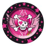 "8 assiettes en carton ""Pirate Girl"""