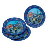 "Assiettes en carton ""Police en action"" lot de 8"
