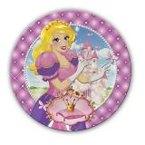 """6 assiettes en carton """"Vie de princesse"""""""