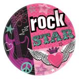 "8 assiettes en carton ""Rock star"""
