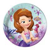 """8 assiettes en carton """"Princesse Sofia - perle des océans"""""""