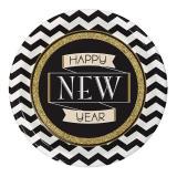 "8 assiettes en carton  ""Sparkling New Year"""