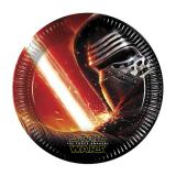 "8 assiettes en carton ""Star Wars 7"""