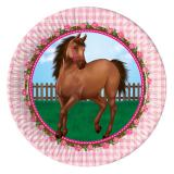 """8 assiettes en carton """"Adorable cheval"""""""