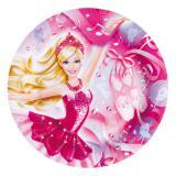 """8 assiettes en carton """"Barbie de rêve"""""""