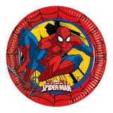 "8 assiettes en carton ""Ultimate Spider-Man"""