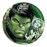 "8 assiettes en carton ""Ultimative Avengers - Hulk"""