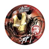 "8 assiettes en carton ""Ultimative Avengers - Iron Man"""