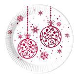 """8 assiettes en carton """"Noël féerique"""""""