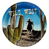 "6 assiettes en carton ""Wild West"""