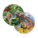 "8 assiettes en carton ""My Safari Party"""