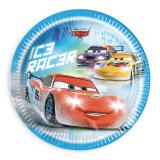 "8 assiettes en carton ""Course folle - Cars"""