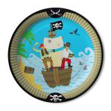 """8 assiettes en carton """"Voyage de pirates"""""""