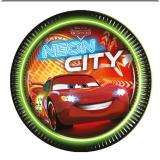 "8 assiettes en carton ""Cars Neon City"""