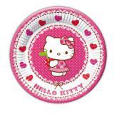 """8 petites assiettes en carton """"Hello Kitty au paradis des cœurs"""""""
