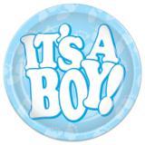 """8 assiettes en carton """"It's a boy!"""""""