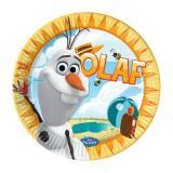 """8 assiettes en carton """"Olaf au paradis"""""""