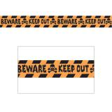 "Rouleau de rubalise ""Beware - Keep out"" 30 m"