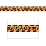 "Rouleau de rubalise ""Beware - Keep out"" 30 m"