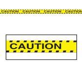 """Rouleau de rubalise """"Caution"""" 6 m"""