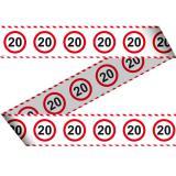 """Rubalise """"Panneau de limitation de vitesse 20 Ans"""" 15 m"""