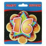 """Macaron de fête """"16 Ans"""" 11 cm"""