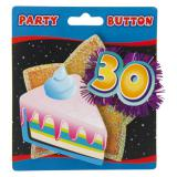 """Macaron de fête """"30 ans"""" avec lamelles brillantes"""