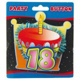 """Macaron 3D """"18 ans"""" 11 cm"""