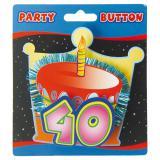 """Macaron 3D """"40 ans"""" 11 cm"""