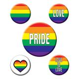 "5 pin´s  ""Love is Love"""