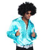 "Chemise avec volants ""Turquoise"""