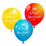 "Ballons festifs ""Happy Birthday"" 6 pcs"