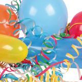 """Set de fête """"Ballons de baudruche & serpentins"""" 27 pcs"""