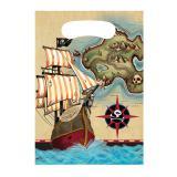 """8 pochettes surprises """"Carte au trésor de pirate"""""""