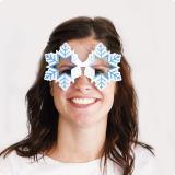 """Lunettes """"Flocons de neige"""" 15 cm"""
